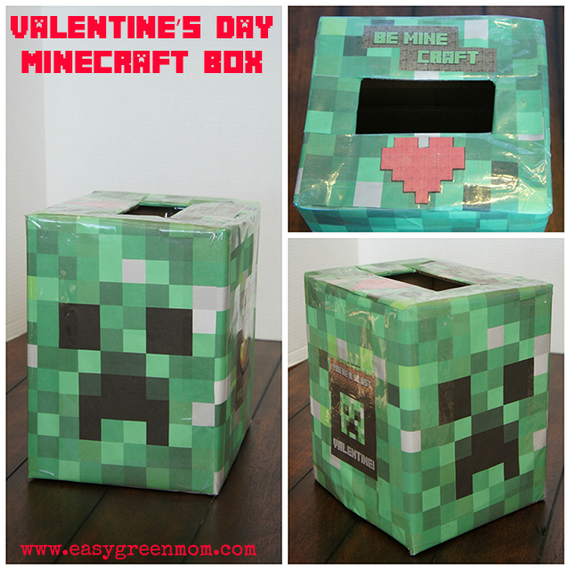 Schön Easy Minecraft Creeper Head Valentineu0027s Day Box And List Of Free Valentines  Printables   Rays Of Bliss