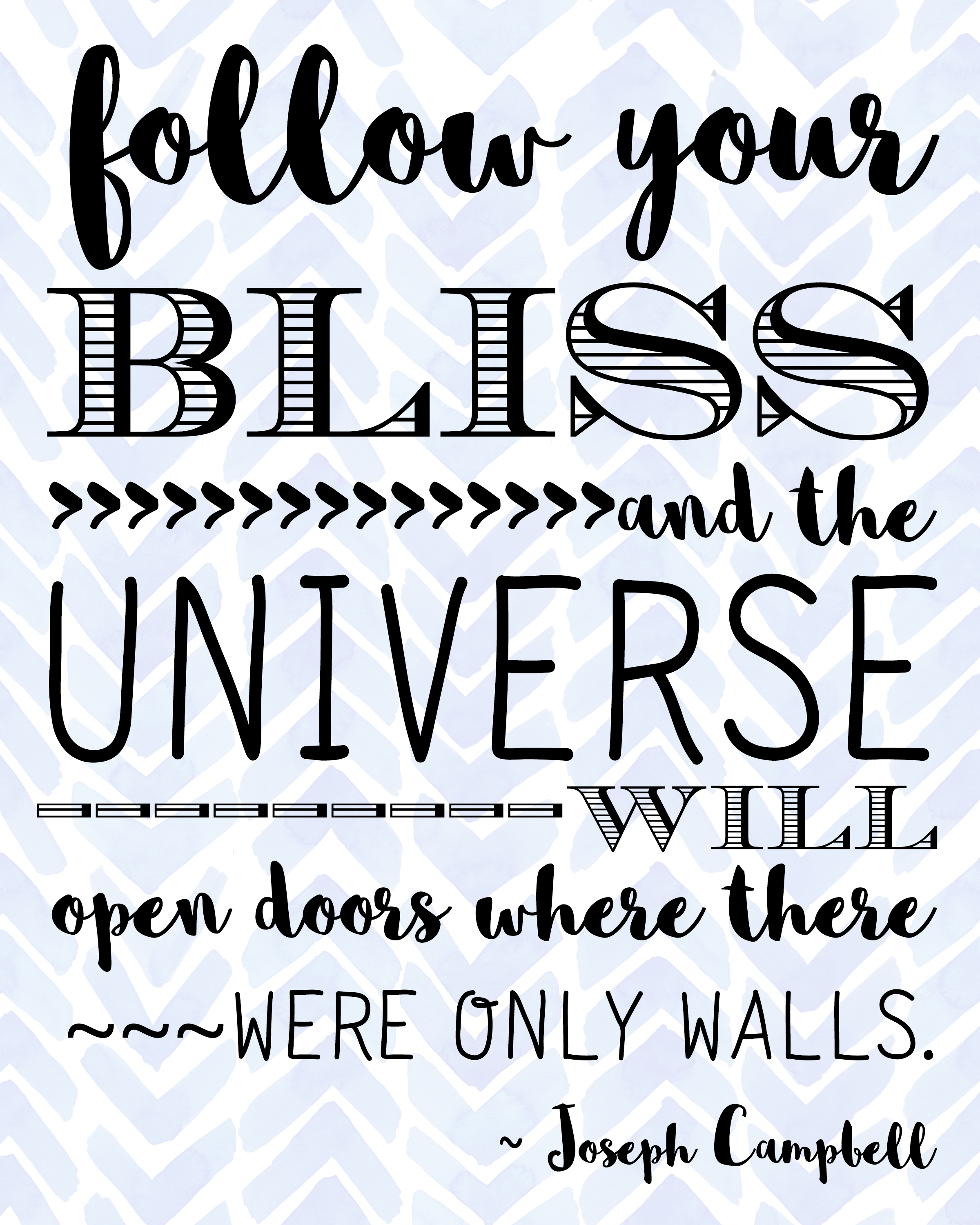 Free Quote Follow Your Bliss Quote Free Printable From Rays Of Bliss